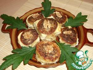 Рецепт Картофельные роллы с грецким орехом