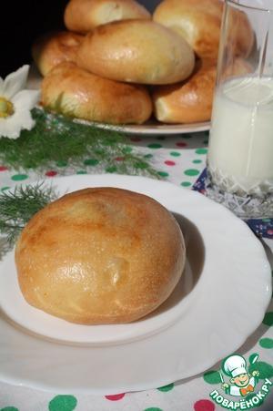 Рецепт Булочки с творогом и луком