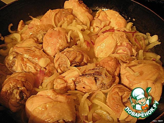 Чахохбили из курицы и сметаны рецепт