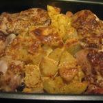 Жаркое с курицей и картофелем