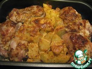 Рецепт Жаркое с курицей и картошкой