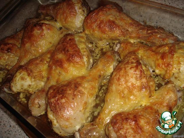 куриная голень в духовке в сметанном соусе