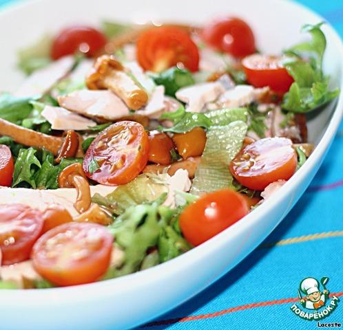 простой рецепт салат с копченой курицей
