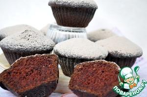 Рецепт Очень шоколадные кексы на шоколадной глазури