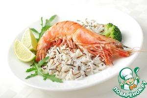 Как готовить Рис с тигровыми креветками простой рецепт приготовления с фото пошагово