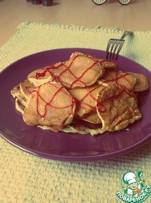 Рецепт Быстрые панкейки-оладушки с кокосом