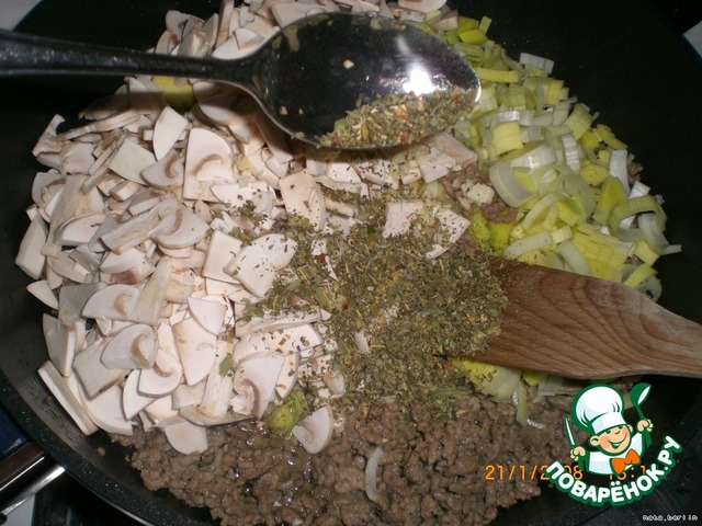 """Макаронно-мясной """"торт"""" с салями домашний рецепт приготовления с фотографиями пошагово как приготовить #4"""