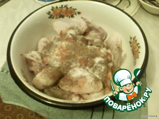 Рецепт крылышек на сковороде в майонезе