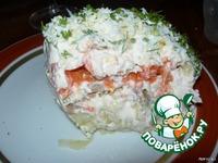 Салат слоеный курино-грибной ингредиенты