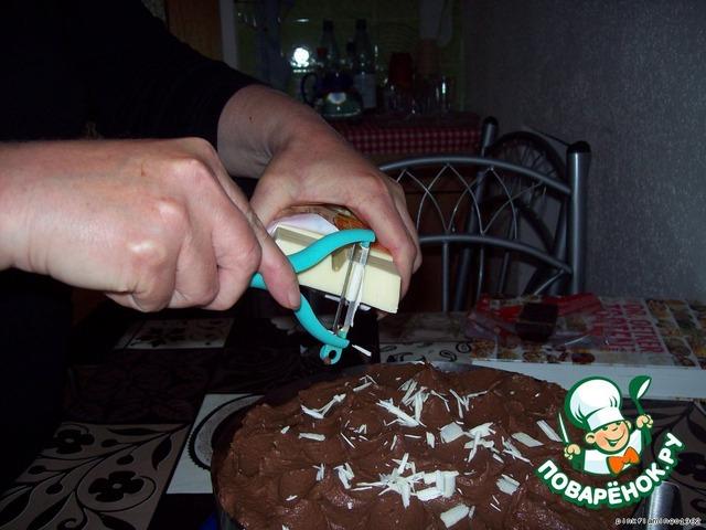 Как сделать стружку на торт