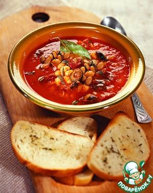 Рецепт Итальянский томатный суп с гренками