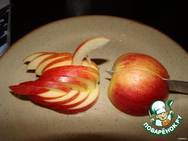 Как сделать утку из яблока видео