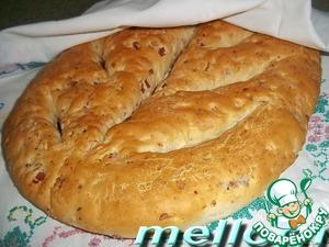 Рецепт Фугасс с грудинкой и грецкими орехами