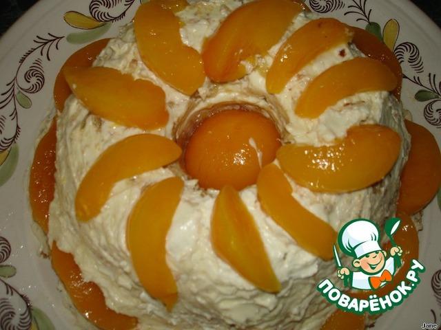 Песочный торт с персиками пошаговый рецепт приготовления с фото готовим #23
