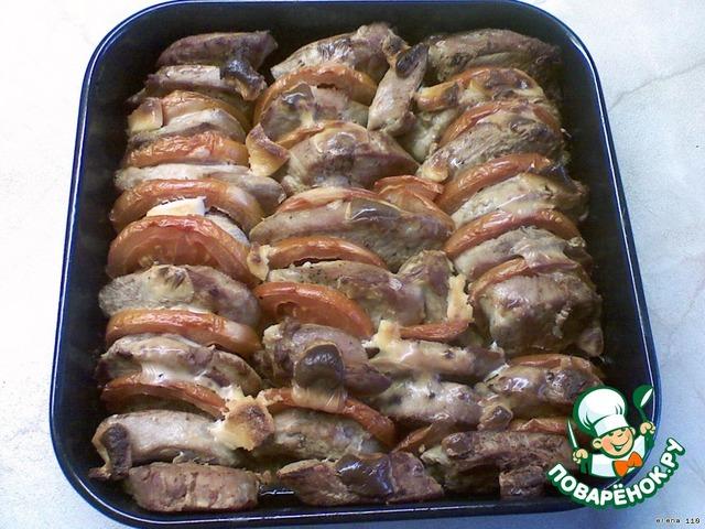 телятина с черносливом запеченная в духовке рецепт