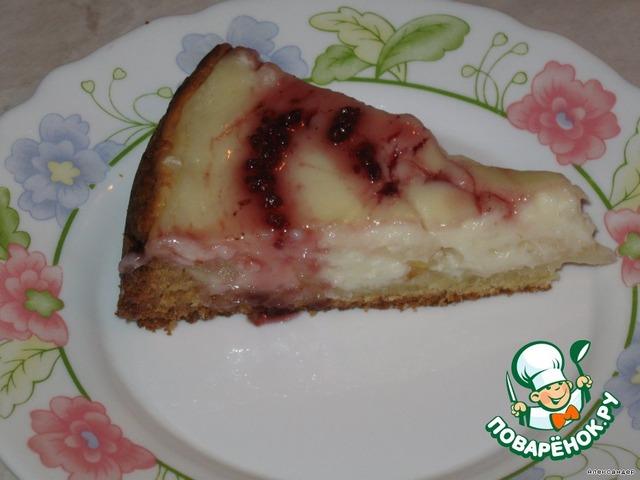 Рецепт заливного пирога с вишней и сметаной с пошагово
