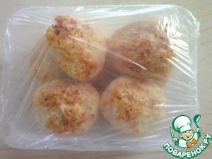 Рецепт Сырники с кокосовой стружкой запеченые и замороженные.