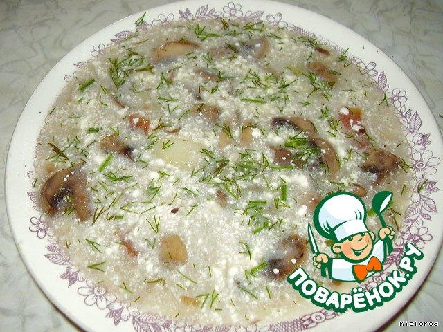 грибной суп рецепт с кабачками и