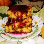 Осенняя запеканка с тыквой и рисом
