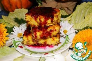 Рецепт Осенняя запеканка с тыквой и рисом
