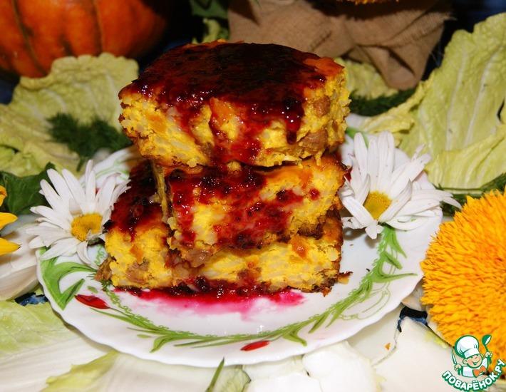 Рецепт: Осенняя запеканка с тыквой и рисом