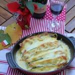 Шницель-лазанья с томатами и цуккини