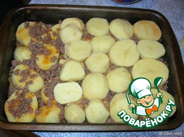 Картофельная запеканка с фаршем рецепт с фотографиями пошагово как готовить #6