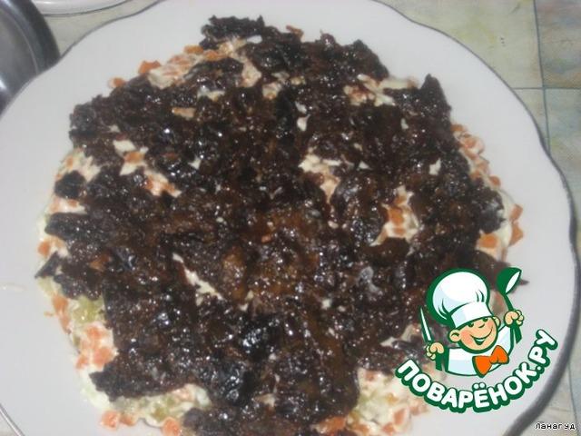 рецепты салатов из свинины слоями