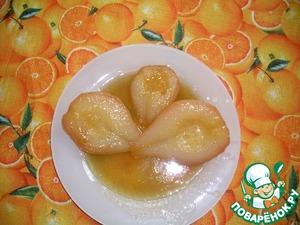 Рецепт Груши-пашот в карамельном соусе