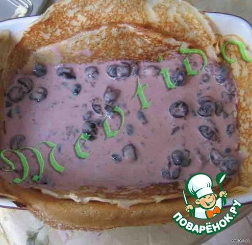 Блинный пирог сладкий рецепт с фото