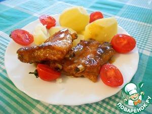 Рецепт Свиные ребрышки в медовом соусе