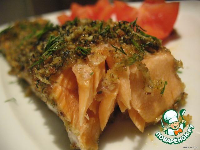Запечeнная рыба в «зелeной» панировке простой рецепт приготовления с фотографиями как приготовить #3