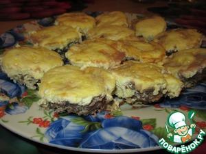 Рецепт Мясные кексы с сырно-яичной начинкой