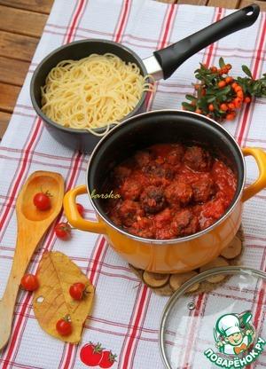 """Рецепт Мясные шарики в густом томатном соусе по-итальянски """"Polpette al sugo """""""