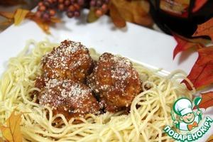 Рецепт Куриные мясные шарики в томатном соусе