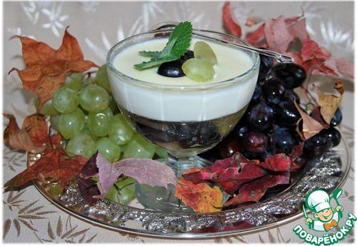 """Панна котта с виноградным желе """"Осень в Италии"""""""