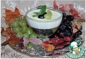 """Рецепт Панна котта с виноградным желе """"Осень в Италии """""""