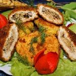 Куриные зразы с рисом и грибами