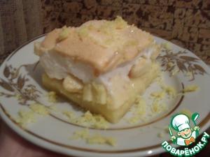 Рецепт Пирог с яблоками под воздушной хмаркой