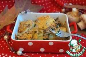 Рецепт Запеканка из картофеля с грибами-Tortiera di patate e funghi