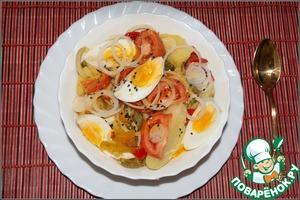 Рецепт Салат картофельный с перцем и горчичным маслом