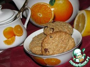 Рецепт Овсяное печенье с изюмом и орехами