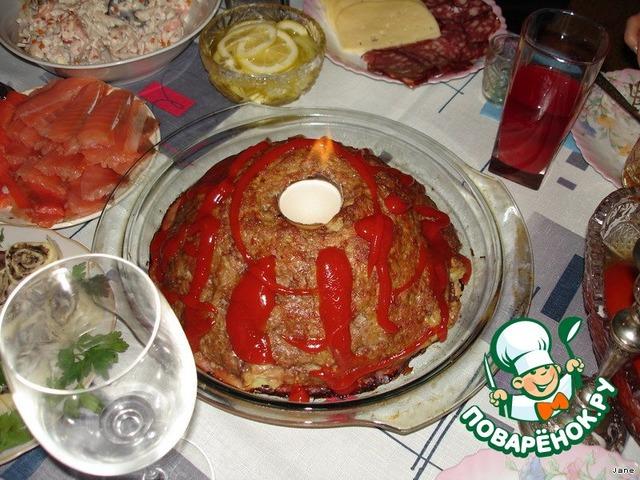 """Готовим простой рецепт приготовления с фото """"Вулкан"""" #8"""