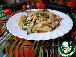 Рецепт Паста карбонара с цукини