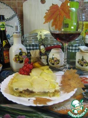 Рецепт Кростата с творогом, грибами и картофелем
