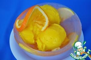 Рецепт Ледяная чаша с лимонно-апельсиновым сорбетом