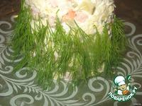 "Салат оливье ""Елочка"" с сыром ингредиенты"