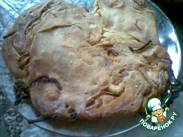 лепешка с луком в духовке рецепт