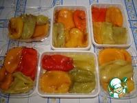 Запеченный болгарский перец, замороженный на зиму ингредиенты