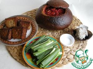 Рецепт Секрет варки вкусного борща с чесночными гренками и перекрученным салом